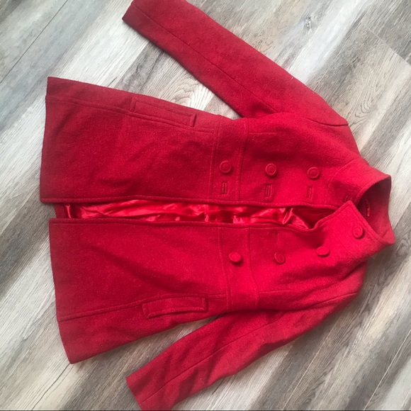 Red Button up Jacket.